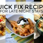 Quick Fix Recipes